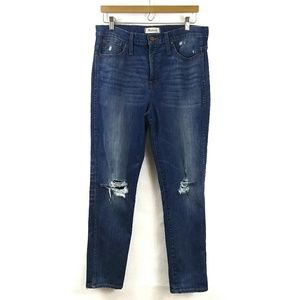 Madewell Slim Straight Jeans Knee-rip Sz 31